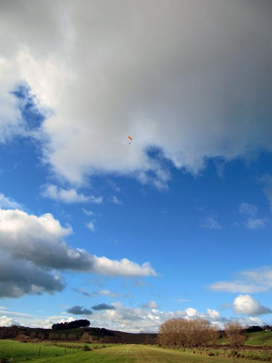 Blue skies, big clouds!